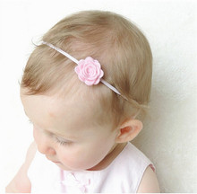 Felt flower headband Elastic Nylon Headband, rose flowers  Hairband Hair Accessories
