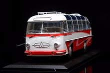 Diecast Bus Model Soviet Union Russian LAZ-697E Tourist 1:43 (White/Red) + SMALL GIFT!!