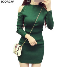 Buy Women Knit Pullover Sweater 2018 New Long Sleeve Strapless Sexy Women Short Knit Dress Slim Elastic Autumn Winter Sweater Women for $11.49 in AliExpress store