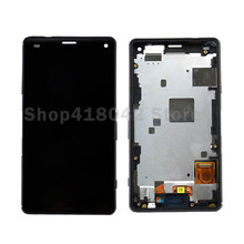 For Sony Xperia Z3 Mini Z3 Compact LCD Screen Display And Touch Screen Digitizer Assembly With Frame Free Shipping
