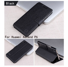 For Huawei Ascend P6 Phone Cases Book Style Wallet PU Leather Case For Huawei Ascend P6 Phone Case Cover With Card Slots Holder(China)