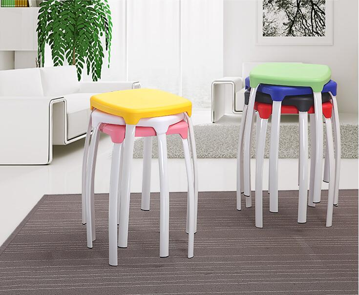 Plastic bench. Adult fashion creative high stools<br>