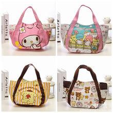 Kawaii Hello Kitty My Melody Little Twin Star Rilakkuma Canvas Shopping Bag  Foldable Shoulder Bags Beach Bag Cartoon Tote Bags d88f084176