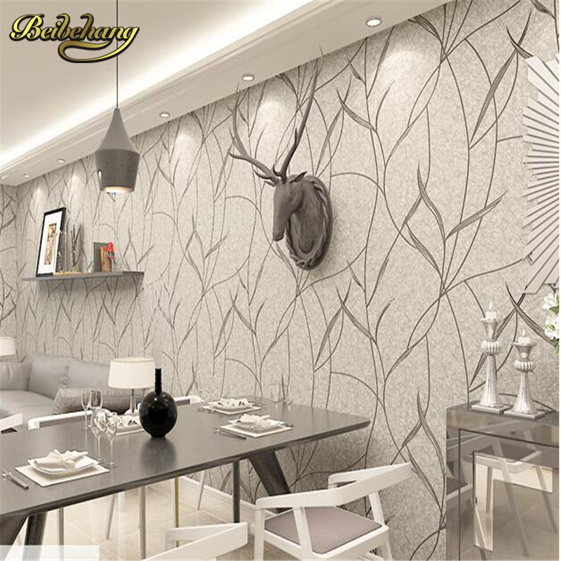 beibehang papel de parede Non-woven wallpapers bedroom living room full of plain color TV wallpaper background modern simple <br>