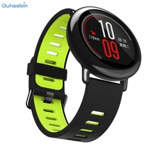 Ouhaobin Popular 22mm Replacement Silicone Sports Strap Band For Xiaomi HUAMI AMAZFIT Smart Watch Straps Multicolor Sep11(China)