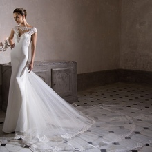 Bridal Gowns Romantic Civil Long Tail Sexy Backless Wedding Dresses Turkey Vintage Lace Sexy Mermaid Wedding Dress 2017