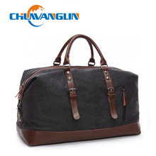 Chuwanglin Canvas Leather Men Travel Bags Carry on Luggage Bags Men Duffel Bags Travel Tote Large Weekend Bag Overnight ZDD05051
