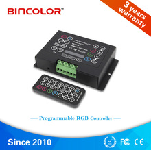 BC-380-8A Programmable 5V 24V 36V DC IR remote wireless control DIY rgb led strip controller(China)