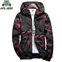 2018 Spring Autumn Mens Casual Camouflage Hoodie Jacket Men Plus Size 4XL Waterproof Windbreaker Coat Male jaqueta masculina(China)