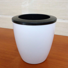 plastic flower pot WITHOUT WATERING,indoor glazed flowerpot for garden succulent orchid plant box mini cute bonsai stand planter