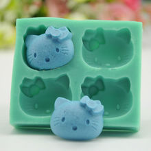 Hello Kitty Chocolate Candy Jelly Mould Silicone Cake Pan Mold Baking Tools sugar craft decorating tool bakeware(China)