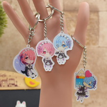 Rem Ram Re:Life in a different world from zero acrylic Keychain Action Figure 6 Styles Pendant  Key Accessories RE001 LTX1