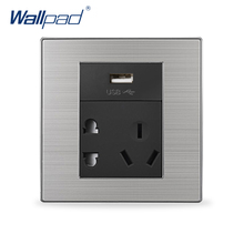 USB 5 Pin Outlet Wallpad Luxury Wall Power Socket With Usb In The Wall Charger 5V 1000MA
