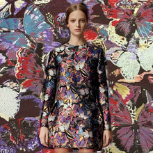 high end butterfly brocade jacquard dress fabric,metallic thick jacquard fabric,butterfly women dress or coat polyester fabric