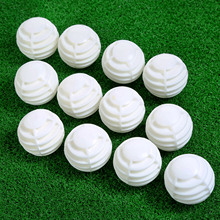 NEW 12Pcs/ Lot Plastic Hollow Golf Balls Golfer Swing Hit Training Practice Trainer Accessories 40mm Random Color Wholesale