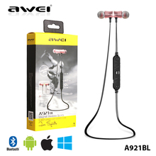 Ecouteur TOP!07 Awei a921bl magnetic super bass wireless bluetooth earphone black/rose gold/blue headset headphone