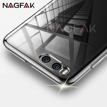 NAGFAK Luxury Soft TPU Cover Crystal Clear Case For Xiaomi Mi5 Mi5S Mi5C Mi5X Plus 5C Cases for Xiaomi Mi 6 5X 5S Silicone Case(China)