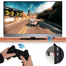 Gasky 2.4G Portable Game Console Playing Wireless Gamepad ABS OTG Black Video Game Control Joystick Gamepad For Micro Sony PS3(China)