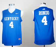 Nike Jerseys Kentucky Wildcats Rajon Rondo 4 College Ice Hockey Jerseys Royal Blue S,M,L,XL,2XL(China)