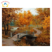 HOME BEAUTY drawing pictures on canvas diy digital oil painting by numbers home decoration unique gift craft paint autumn G071(China)