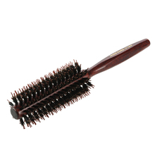Miss Chu Bristle Roll Round Comb Hairbrush Long Dual Comb Teeth Hair Scalp Massage Comb Hair Brush DIY Hairdressing Styling Tool(China)