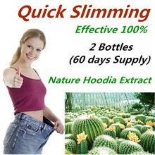 Nature Hoodia Cactus Extract burn fat ,Healthy Digestive appetite control ,lose weight fast for men & women - 2 Bottles(China)