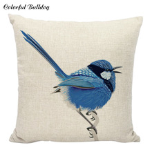 Good Design Cheap Cushion Cover Decorative Pillow Case Modern Home Sofa Small Sweet Red Birds Plant Pillowcase Cojines YP4208