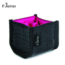 Naras Cosmetics Brand Makeup Brush Set Bag Make up Set Leather Bag Makeup Vanity Case Pu Cosmetic Bag 8cm*8cm 433