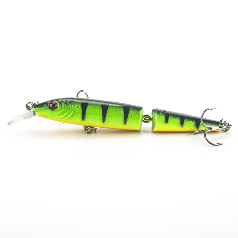 1PCS Laser 2 Sections Minnow Minnow Fishing Lure 10.5CM/9.6G pesca hooks fish wobbler tackle crankbait artificial hard bait<br><br>Aliexpress