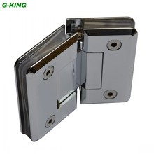 Pure copper precision casting 135 degree glass clamp glass door hinge glass hinge high-grade mirror glass clip(China)