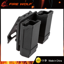 FIRE WOLF Glock USP P226 Paddle Style Double Magazine Holster Pouch For Gl 9mm 40 Cal Mags Hunting Gun Accessories Black(China)