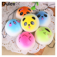 Dulcii 4pcs/set Mobile Phone Straps Squishy Cute Fragrant Emoji Bread Key Chain Hanger Smartphone Bag Pendant Decoration
