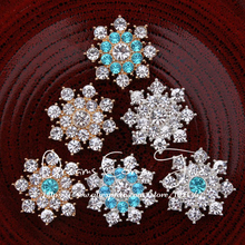 50PCS Vintage Handmade Flower Rhinestone Buttons Bling Flatback Crystal Pearl Decorative Buttons Flower Center Craft Supplies(China)