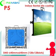 Big discount p5 indoor xxx video led rental display , P5 indoor black led led cabinet 640x640mm 64cm x 64cm good price(China)