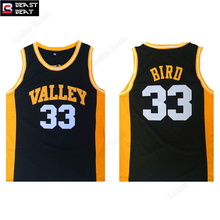 Beast Beat Larry Bird #33 Valley High School Basketball Jerseys Throwback Bird Limited Edition Green Sports Shirts Wholesale