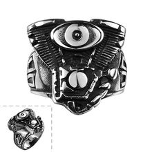 Free Shipping 2015 New Hot Men's Motorcycle Motorbike Engine Rumble Stainless Steel Biker Racer Rider Mechanic Ring