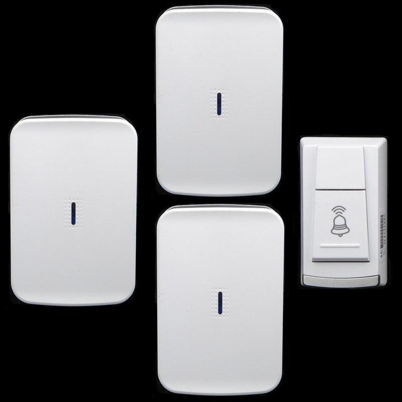 home Wireless DC battery elderly pager move freely 1transmitter+3 receivers waterproof doorbell wireless door bell<br><br>Aliexpress