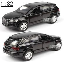 Best High quality SUV Q7 1:32 alloy model,Pull Back Toy car,Blue Diecasts toys cars,free shipping