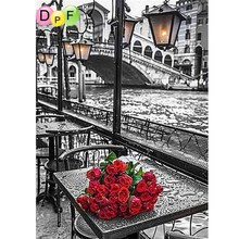 DPF Diamond embroidery Painting 3d diamond mosaic Diamond Painting Cross Stitch flower red rose pattern hobbies & crafts a gift
