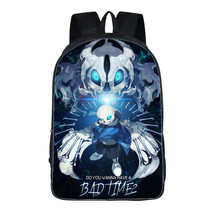 16 Inch Anime Undertale Backpack For Teenagers Boys Girls School Bags Sans Women Men Travel Bag Undertale Children School Bag