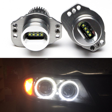 One pair 2*20W 40W CREE chip LED Marker Angel Eyes for B.M.W E90/ E91 Plug and Play 7000K White led Halo bulbs