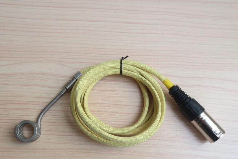 ID.15.8mm,Height12.7mm,120V100W,D-nail Coil Heater,Thermocouple K,Kevlar Sleeve with XLR 5 pin Male Plug<br>