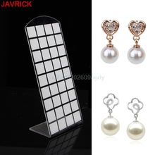 Earring display Jewelry Organizer 72 holes plastic tent card Earrings Display Stand