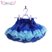 Kids Girls Dancewear newborn Chiffon Tutu Pettiskirt navy blue Princess Skirt 0-10Y plus size(China)