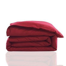 Summer red solid color duvet cover for home bedding,100% cotton solid color quilt cover home bedding for adults twin queen(China)