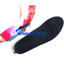 Long time 2300 mah Winter Electric Heated Insole with Remote Control  Men Shoes Boots Material EVA Solid Pink 41- 46 Large Size