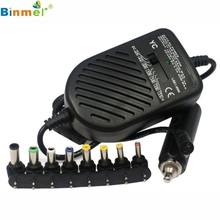 Hot-sale 8 x detachable plugs Universal Car DC Laptop Charger Adapter for Laptop Notebook 1 pc