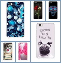 Cute Cartoon Painted Mobile Silicone Phone Case For Huawei P8 Lite Colorful Protective Case For Huawei Ascend P8Lite 5.0 inch