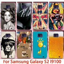Soft Phone Cases For Samsung Galaxy SII I9100 S2 GT-I9100 Case Sexy Cute Girl Hard Back Cover Skin Shell Housing Sheath Bag Hood