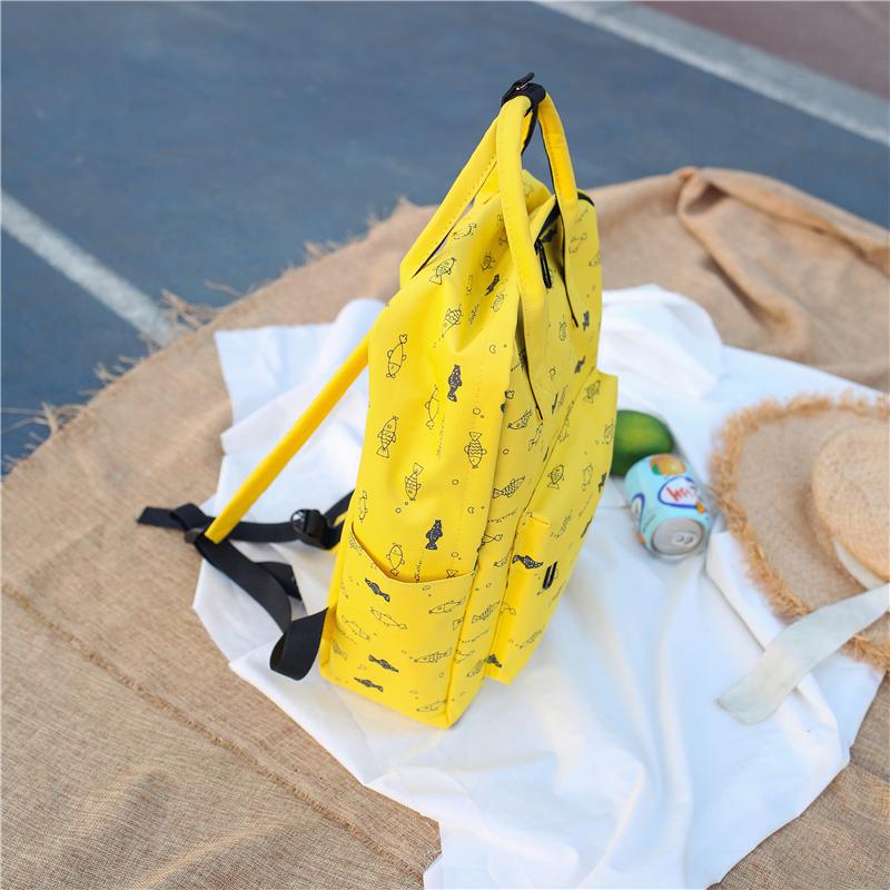 Menghuo Fish Printing Women School Bag Backpack for Teenage Girls Backpacks Female Canvas Children Schoolbag Women Bag s (10)